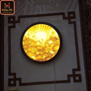 Đèn thờ Tranh trúc chỉ in MÂU NI, đường kính 60cm, Sen tia (thích hợp đặt tượng thờ cao 40cm đến 80cm), đèn thờ, tượng phật - tranhtrucchiin30 thumbnail