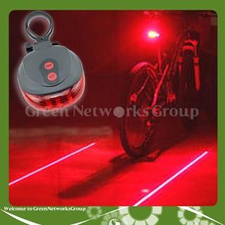 Đèn hậu xe đạp cảnh báo 9 chế độ (gồm 7 chế độ cảnh báo led - 2 chế độ laser viền) Greennetworks - 0101100204940 thumbnail