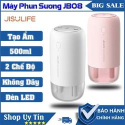 Máy phun sương tạo ẩm Jisulife JB08 Hai chế độ kiêm đèn ngủ LED để bàn - Máy tạo ẩm không khí và giữ ẩm da, dung tích 500ml