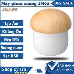 Máy phun sương Jisulife JM02 hình nấm , tự động tắt khi hết nước - Tạo ẩm không khí và giữ ẩm da 250ml - Máy tạo ẩm không gian thư giãn kiêm đèn ngủ ánh sáng tùy chọn