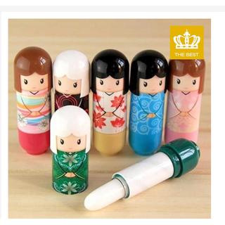 Son dưỡng ẩm chống khô môi thiết kế hình búp bê Nhật Bản dễ thương cho - SMDNB thumbnail