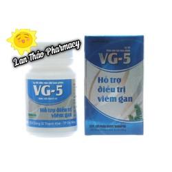 VG 5 hộp 40 viên hỗ trợ tăng cường chức năng gan hạ men gan