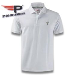 Áo thun nam cổ bẻ ngắn tay logo con nai PigoFashion AB20 thích hợp đi làm đi chơi chọn nhiều màu