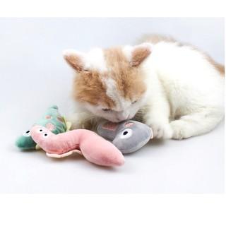 Đồ chơi tương tác hình động vật dễ thương cho mèo tập nhai-pet scung - gaubong thumbnail