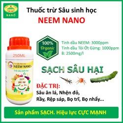 Thuốc trừ sâu sinh học NANO - Quét sạch sâu bệnh, nhện đỏ, rầy, rệp sáp, bọ nhẩy, trĩ, côn trùng chích hút - Sản phẩm sạch 100% từ Thiên Nhiên