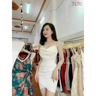 Đầm cổ đổ xếp ly hai dây cao cấp có mút thời trang nữ cao cấp - CHIA32 thumbnail