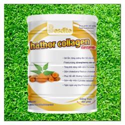 Sữa bột  Besdite - Hathor collagen curcumin, giúp tăng cường đàn hồi da và giảm vết nhăn,Tăng khả năng miễn dịch, giảm cholesteron, phục hồi vết thương sau phẫu thuật,ngăn ngừa ung thư,hỗ trợ chữa dạ dày, trọng lượng 400 Gram
