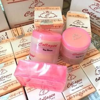 1 Set Kem dưỡng da hỗ trợ mờ Nám Tàn Nhang Collagen Plus Vit E - click1 thumbnail