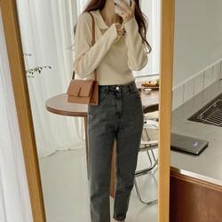 Áo Len mỏng Nữ Dài tay Form rộng Cổ bẻ Màu trơn Cổ tim Ulzzang Hàn Quốc Áo len mỏng Thu g nữ Cổ V