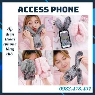 Ốp điện thoại Iphone 11 Promax lông thỏ camera đính đá đủ màu - M82 thumbnail