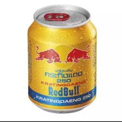 1 lon nước tăng lực bò húc thái lan 250ml Red Bull nắp đỏ chính hãng