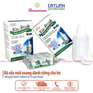 Bình Sinufresh Kids kèm 15 gói hỗ trợ xoang mũi dị ứng tăng tiết dịch nhầy ngạt mũi hắt hơi làm sạch kháng khuẩn giảm ngạt mũi giữ ẩm bảo vệ phục hồi tổn thương - cali08 thumbnail