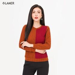 Áo len phối màu bo gấu Lamer L61W20T029
