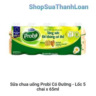 SỮA CHUA UỐNG PROBI CÓ ĐƯỜNG - LỐC 5 CHAI X 65ML - SCUPR65 thumbnail