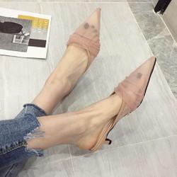 (Sẵn hồng, sz 39) Giày sục nữ mũi nhọn 3p Ulzzang