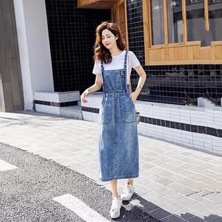 Yếm váy jean rút dây eo - yếm váy jean thumbnail