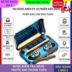 Tai nghe bluetooth F9 10 , tai nghe không dây F9 phiên bản thứ 10 âm thanh 9D, chống nước, chống bụi, chống ồn, nút cảm ứng, nghe gọi rõ nét, kết nối được với mọi điện thoại
