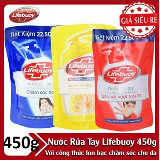 Nước rửa tay lifebuoy túi 450g - nước rửa tay lifebouy 450gr - nước rửa tay lifeboy 450g - NRT LIFEBUOY thumbnail