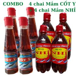 Combo 8 chai nước Mắm cá cơm truyền thống nguyên vị
