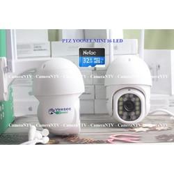 CAMERA IP WIFI PTZ YOOSEE MINI 16 LED HD1080 kèm thẻ nhớ Netac/Yoosee 32G - Xoay 360 độ, chống nước