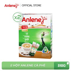 Combo 2 hộp sữa bột Anlene Cà Phê 310g (10x31g)