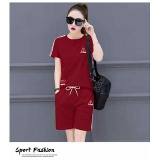 Bộ quần áo thể thao nữ in tam giác - BQATTNITG thumbnail