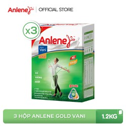 Combo 3 hộp sữa bột Anlene Gold Movepro Vanilla 1.2kg