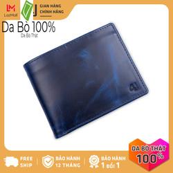 Bóp ví nam da bò thật 4U cao cấp, có nhiều ngăn đựng tiền và thẻ tiện dụng dáng ngang sang trọng FA242