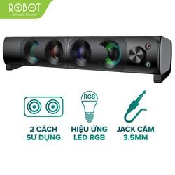Loa Thanh SOUNDBAR ROBOT RS300 Kiểu Dáng Gaming - Hiệu ứng LED RGB - Công suất lớn 6W - BẢO HÀNH 12 THÁNG