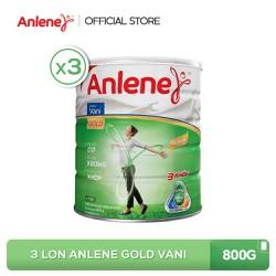 Combo 3 lon sữa bột Anlene Gold Movepro Vanilla 800g
