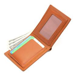 Bóp ví nam da bò thật 4U cao cấp, nhiều ngăn đựng tiền và thẻ tiện dụng dáng ngang sang trọng FA187 (đen-nâu-nâu bò)