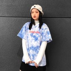 Áo Thun kiểu Unisex Wash Tie Dye Xanh T-Shirt - form rộng local brand iMA God Breaker (iGB)