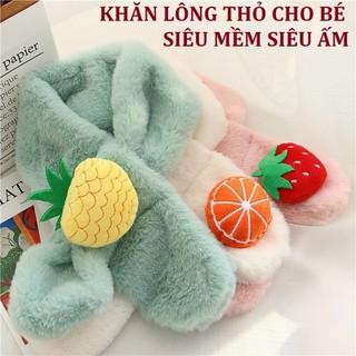 Khăn Choàng Lông Thỏ siêu mềm siêu ấm gắn Hình Trái Cây Đáng Yêu Cho Bé - MS43 thumbnail