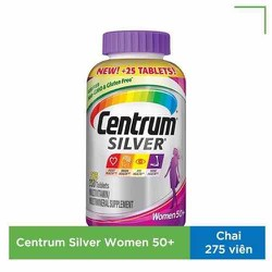 Vitamin Tổng Hợp Centrum Silver cho Nữ chai 275 Viên Mỹ