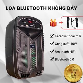 Loa bluetooth Cát Thái SXQF-U317 karaoke, âm thanh HIFI, tặng kèm micro karaoke, công nghệ TWS kết nối 2 loa cùng lúc, đèn LED 7 màu, cổng AUX 3.5mm, thẻ nhớ TF, USB, FM, pin 1500mAh - Bảo hành 12 tháng - U317 thumbnail