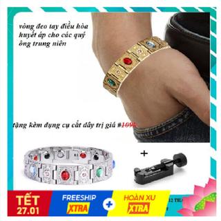 Vòng điều hòa huyết áp đeo tay đính đá siêu đẹp - không phai bay màu - MS41 thumbnail