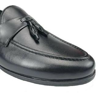 Giày lười nam nơ chuông size khủng 44 49 da thật hàng xưởng đóng - GBSNC 6
