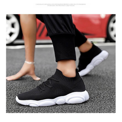 Giày Sneaker Nam Đế Cao Su Đi Siêu Nhẹ