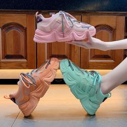 Giày thể thao nữ CLDB có 3 màu hồng, cam u0026 xanh lá , chất da phối lưới cao cấp, độn đế cao, dây kép, thời trang Hàn Quốc năng động, cá tính , đẹp, giá rẻ , sử dụng đi học, đi làm, đi chơi , là mẫu giày nữ sneaker hot 2020