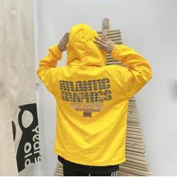 Áo khoác dù nam nữ chống nắng in chữ Atlantic, có nón,(L dưới 65Kg,XL dưới 75Kg), form chuẩn phong cách Hàn Quốc, áo khoác dù unisex chất liệu dù cao cấp, áo khoác dù VNXK cực đẹp, sành điệu, xu hướng thời trang 2021