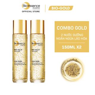 Combo 2 Nước dưỡng ngăn ngừa lão hóa vàng 24k Bio-Gold Bio-essence 150ml chai - CB01WP100337 thumbnail
