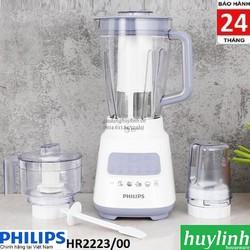 Máy xay sinh tố Philips HR2223 - 3 cối - 700W - Hàng chính hãng