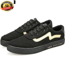 Giày sneaker nam thời trang màu đen  - GT01