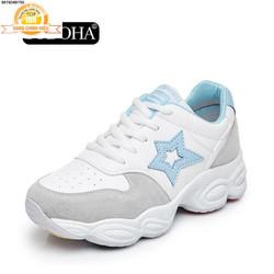 Giày Sneaker Thể Thao Nữ Mẫu Mới Siêu Hot  S9-V69Sky Trắng Phối Xanh