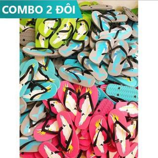 Combo 2 đôi dép xốp xỏ ngón hoạt hình đi biển, đi trong nhà dễ thương nhẹ và nhẹ êm - 2 đôi dép thumbnail