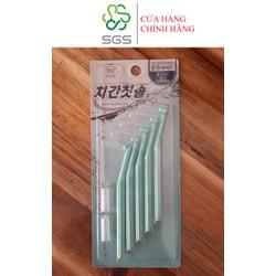 Bàn chải kẽ răng SGS loại L 5 cái/vỉ nhập khẩu Hàn Quốc - Size 0.8 mm