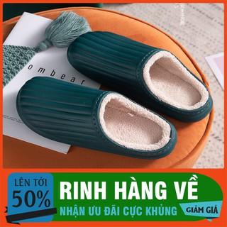 đôi dép cao su lót lông đi trong nhà mùa đông - nhiều màu - DLNCC-1 thumbnail