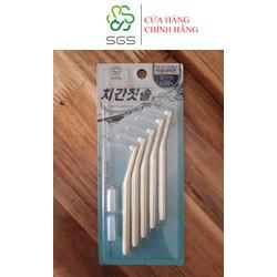 Bàn chải kẽ răng SGS loại L 5 cái/vỉ nhập khẩu Hàn Quốc - Size 0.7 mm