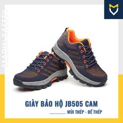 Giày bảo hộ lao động thể thao JB505 màu cam chống va đập, chống đâm xuyên