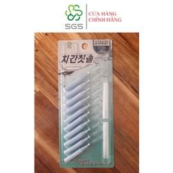 Bàn chải kẽ răng SGS loại I 10 cái/vỉ nhập khẩu Hàn Quốc - Size 0.8mm